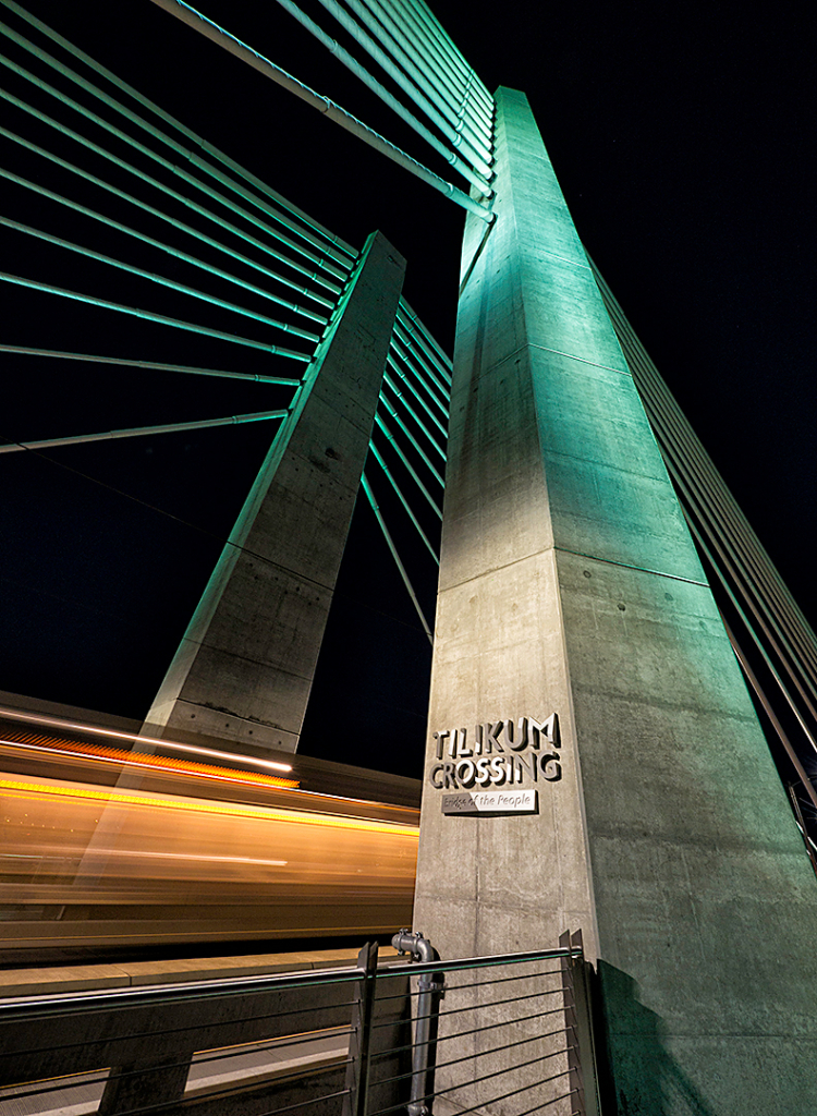 """Third Place: """"Blue Green And Orange Line"""" - Copyright Mike Burgess"""
