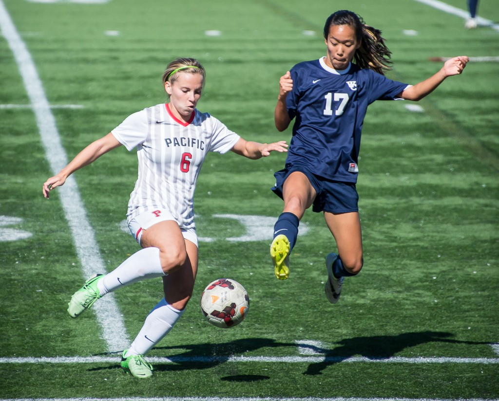 Collegiate women's soccer, Whitman College at Pacific University, by Pat Fitzgerald